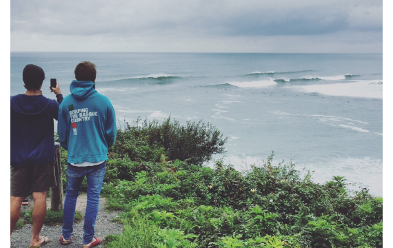 Where to surf on the Basque Coast when the waves are too big to surf in Biarritz?